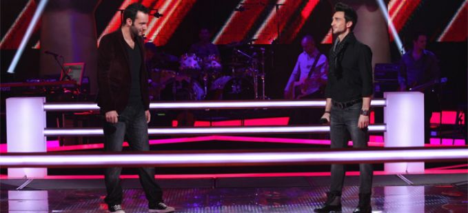 "Vidéo Replay ""The Voice"" : regardez la Battle entre Julien Mior et Benjamin Bocconi"