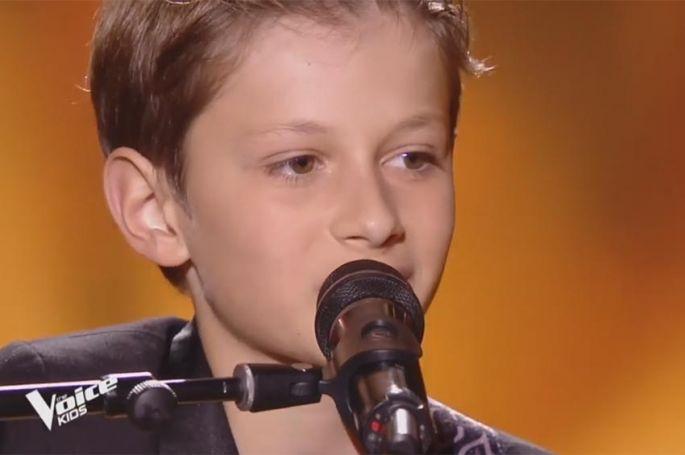 """Replay """"The Voice Kids"""" : Mano chante « Le café » d'Oldelaf (vidéo)"""
