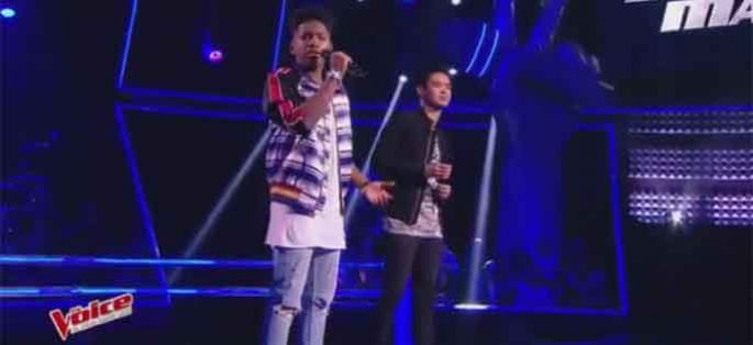 "Replay ""The Voice"" : Battle Lisandro / Angelo Powers « Runnin' » de Beyoncé (vidéo)"