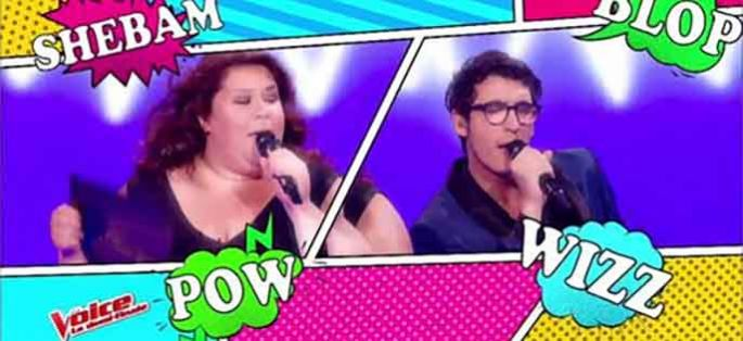 "Replay ""The Voice"" : Vincent Vinel & Audrey « Comic Strip » de Gainsbourg / Bardot (vidéo)"