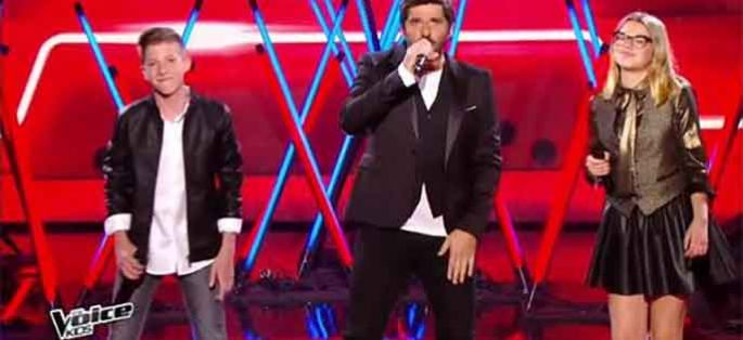 "Replay ""The Voice Kids"" : Patrick Fiori, Agathe & Evän « Laissez-nous chanter » en finale (vidéo)"