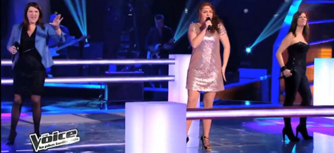 "Replay ""The Voice"" : la battle entre Juliette, Sophie & Carine sur « It's Raining Men » de Martha Wash (vidéo)"