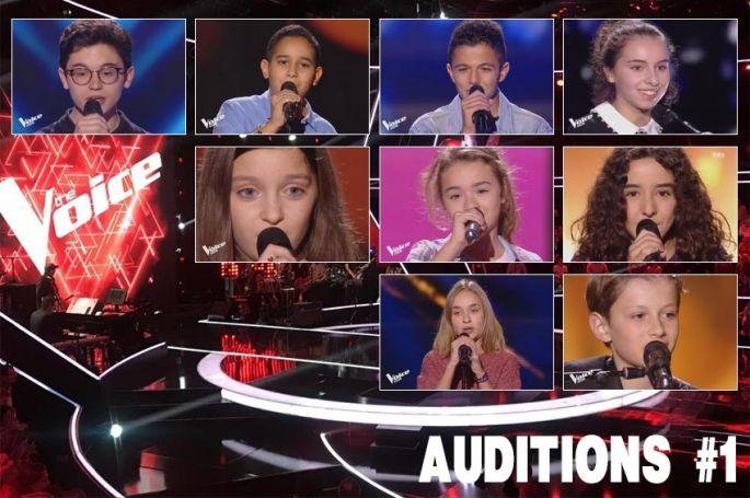 """Replay """"The Voice Kids"""" vendredi 12 octobre : voici les 9 premiers talents sélectionnés"""