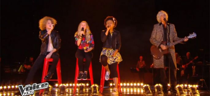 "Replay ""The Voice Kids"" : Justine, Charlie, Henri & Louis Bertignac « All You Need Is Love » des Beatles (vidéo)"