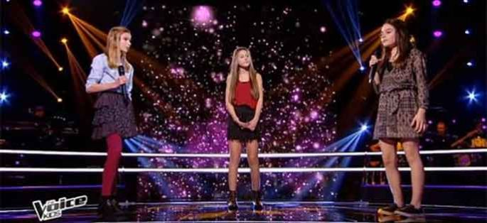 "Replay ""The Voice Kids"" : battle Lynn, Romane, Josiane « Où Je vais » d'Amel Bent (vidéo)"
