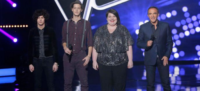 "Replay ""The Voice"" : l'épreuve ultime de Côme, Mathilde et Max Blues Bird (vidéo)"