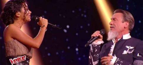 """Replay """"The Voice"""" : Lucie & Florent Pagny « J'oublierai ton nom » en finale (vidéo)"""