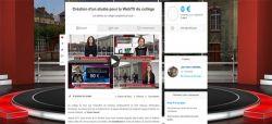 Pontoise : des élèves lancent un crowdfunding pour créer un studio TV et y présenter leur JT