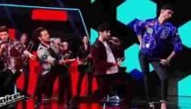"""Replay """"The Voice"""" : Arcadian & MB14 interprètent « Tous les mêmes » de Stromae (vidéo)"""