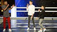 """Replay """"The Voice Kids"""" : battle Lisandro, Medhi et Ferhat sur « My Girl » de The Temptations (vidéo)"""