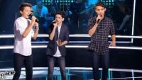 """Replay """"The Voice Kids"""" : battle Achille, Robin, Thomas « L'autre Finistère » des Innocents (vidéo)"""