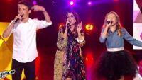 """Replay """"The Voice Kids"""" : Jenifer, Lou & Achille « Bubble star »  de Laurent Voulzy (vidéo)"""