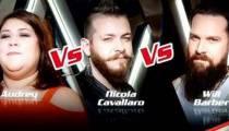 "Replay ""The Voice"" : l'épreuve ultime d'Audrey, Nicola Cavallaro et Will Barber (vidéo)"