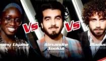 "Replay ""The Voice"" : l'épreuve ultime d'Emmy Liyana, Alexandre Sookia & Marius (vidéo)"