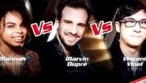 """Replay """"The Voice"""" : l'épreuve ultime de Marvin Dupré, Vincent Vinel & Manoah (vidéo)"""