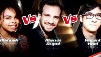 "Replay ""The Voice"" : l'épreuve ultime de Marvin Dupré, Vincent Vinel & Manoah (vidéo)"