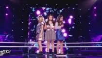 """Replay """"The Voice Kids"""" : battle Lyn / Célia / Leelou  sur « One last time » d'Ariana Grande (vidéo)"""