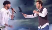 """Replay """"The Voice"""" : Slimane & Christophe Maé « Ça fait mal » en finale (vidéo)"""