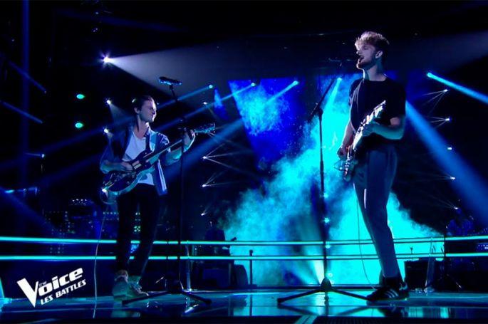 """Replay """"The Voice"""" : Owlite et Tristan chantent « Les mots bleus » de Christophe (vidéo)"""