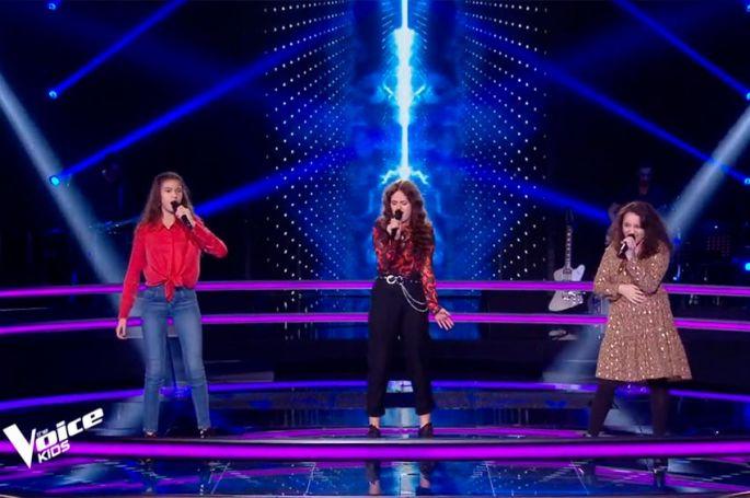 "Replay ""The Voice Kids"" : Emilia, Naomi & Marilou chantent « Rolling in the Deep » d'Adèle (vidéo)"
