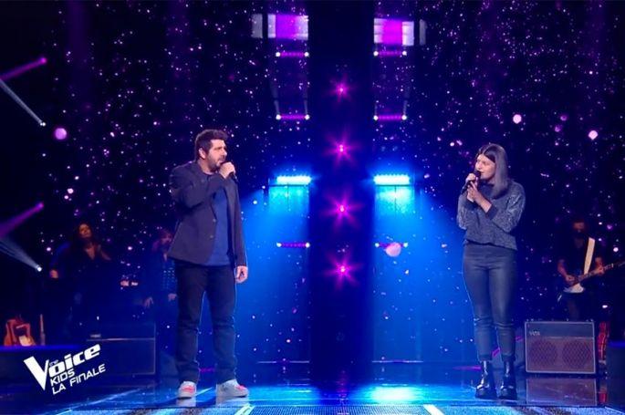 "Replay ""The Voice Kids"" : Ema & Patrick Fiori chantent « Fan » de Pascal Obispo (vidéo)"