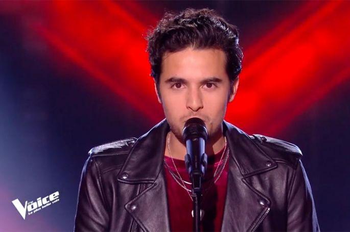 """Replay """"The Voice"""" : Romain chante « Déjeuner en paix » de Stephan Eicher (vidéo)"""