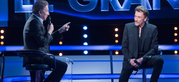 """Le Grand Show"" : Michel Drucker reçoit Johnny Hallyday samedi 28 novembre sur France 2"