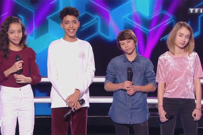 """Revoir """"The Voice Kids"""" : battle Stella, Lilian, Camilia & Zion Luna « Si t'étais là » de Louane (vidéo)"""