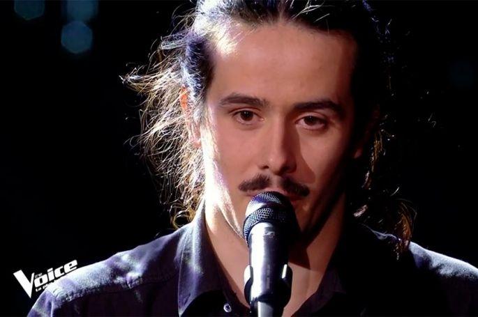 """Replay """"The Voice"""" : Robin Baron chante « J'veux pas qu'tu t'en ailles » de Michel Jonasz (vidéo)"""
