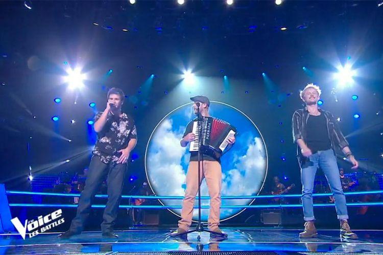 """Replay """"The Voice"""" : Bryan, Paul'O & Jérémy chantent « Je t'emmène au vent » de Louise Attaque (vidéo)"""