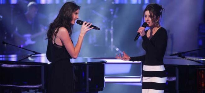 "Vidéo Replay ""The Voice"" : regardez la Battle entre Angelina Wismes et Fanny Leeb"