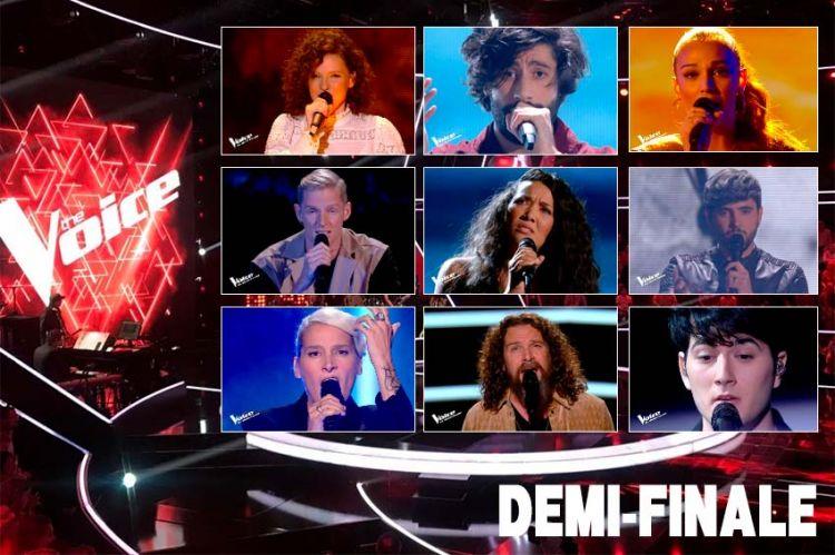 """Replay """"The Voice"""" : voici les 15 prestations de la demi-finale en direct sur TF1 (vidéo)"""