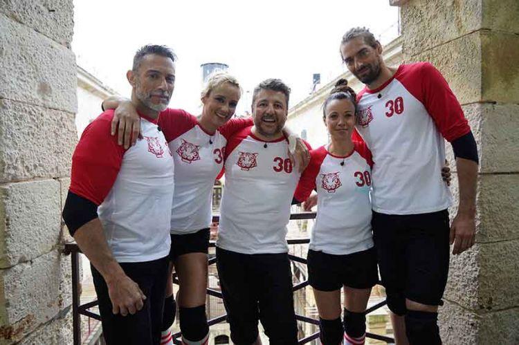 """""""Fort Boyard"""" le 22 juin sur France 2 : équipe « Sourire à la vie » avec Bruno Guillon & Camille Lacourt"""