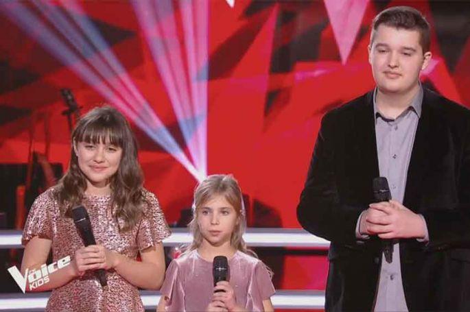 """Replay """"The Voice Kids"""" : Julia, Fanchon & Philippe « Belle » de Notre Dame de Paris (vidéo)"""