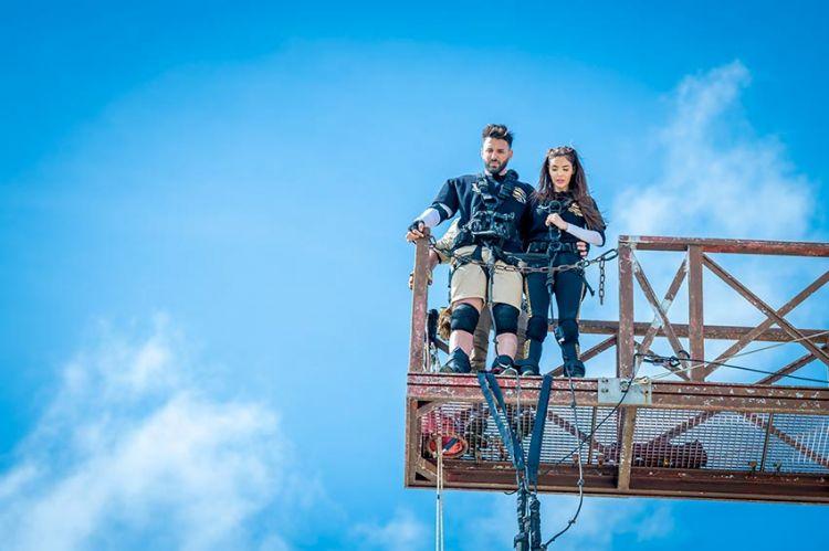 """""""Fort Boyard"""" : Nabilla et Thomas Vergara au double saut de l'ange, samedi 17 juillet sur France 2 (vidéo)"""