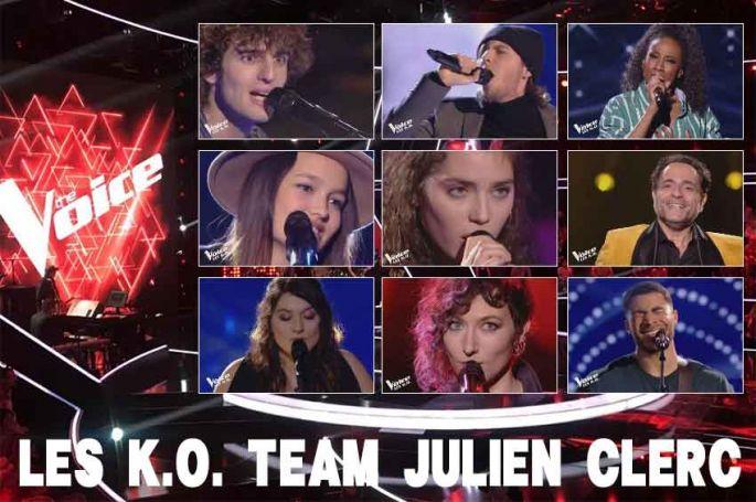 """Replay """"The Voice"""" samedi 27 avril : voici les 18 KO de l'équipe Julien Clerc (vidéo)"""