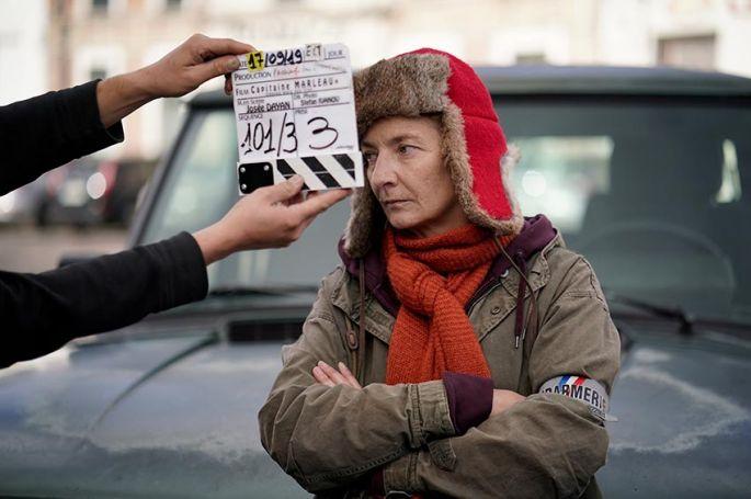 """""""Capitaine Marleau"""" en tournage à Gérardmer avec Sylvie Testud en Guest pour France 3"""