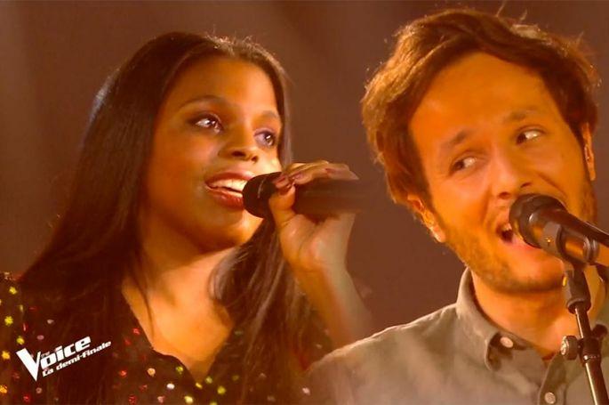 """Replay """"The Voice"""" : Mentissa & Vianney chantent « Parce que c'est toi » d'Axel Red (vidéo)"""