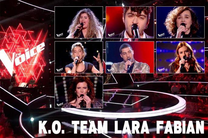 "Replay ""The Voice"" samedi 18 avril : voici les 7 K.O. de l'équipe Lara Fabian (vidéo)"