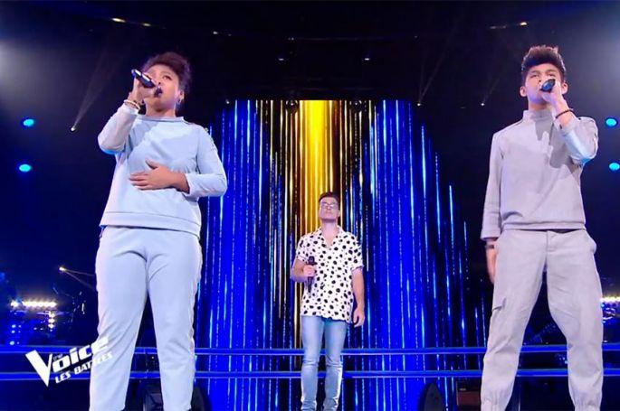 """Replay """"The Voice"""" : Jonathan, LudySoa et Nathan « Chanter pour ceux » de Michel Berger (vidéo)"""