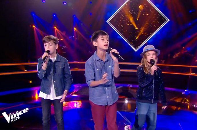 "Replay ""The Voice Kids"" : Arnaud, Ilan & Zoé chantent « Savoir aimer » de Florent Pagny (vidéo)"