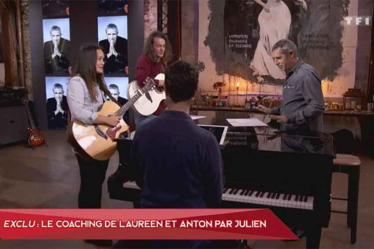 """""""The Voice"""" : découvrez le coaching de Anton & Laureen avec Julien Clerc (vidéo)"""