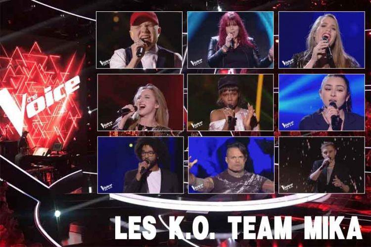 "Replay ""The Voice"" samedi 13 avril : voici les 18 KO de l'équipe Mika (vidéo)"