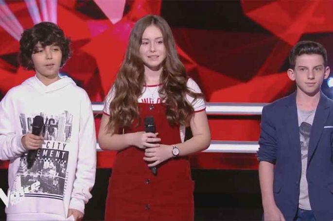 """Replay """"The Voice Kids"""" : Ali, Amélie & Enzo « Envole-moi » de Jean-Jacques Goldman (vidéo)"""