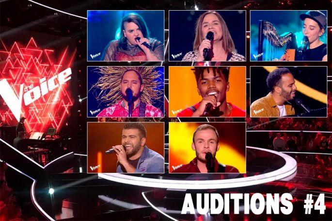 """Replay """"The Voice"""" samedi 8 février : voici les 8 talents sélectionnés par les coachs (vidéo)"""