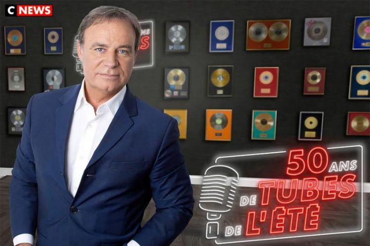 """""""50 ans de tubes de l'été"""" avec Fabien Lecœuvre sur CNews du 6 juillet au 21 ooût"""