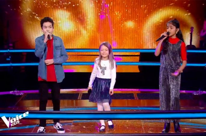 "Replay ""The Voice Kids"" : Nathan, Kanesha & Lena chantent « Tombé » de Matt Pokora (vidéo)"