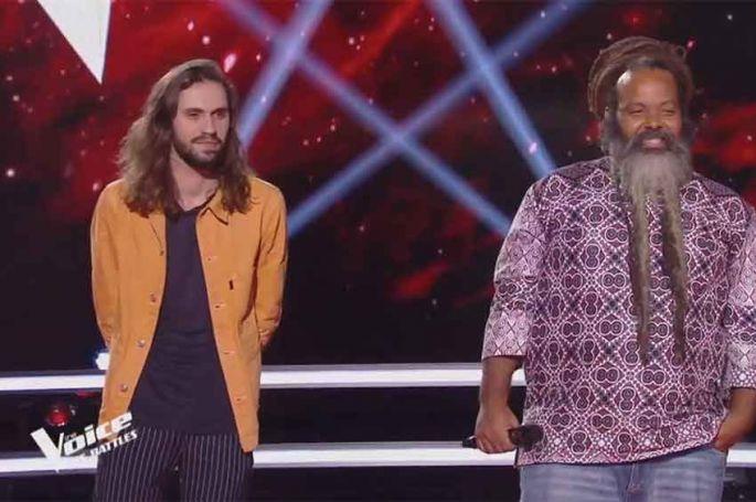 """Replay """"The Voice"""" : Clément & Fanswa « Ave Cesaria » de Stromae (vidéo)"""