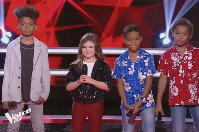 "Replay ""The Voice Kids"" : Lucas, Nathan, Soan & Maëline « Simon Papa Tara » de Yannick Noah (vidéo)"