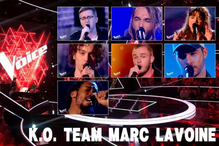 """Replay """"The Voice"""" samedi 4 avril : voici les 7 K.O. de l'équipe Marc Lavoine (vidéo)"""